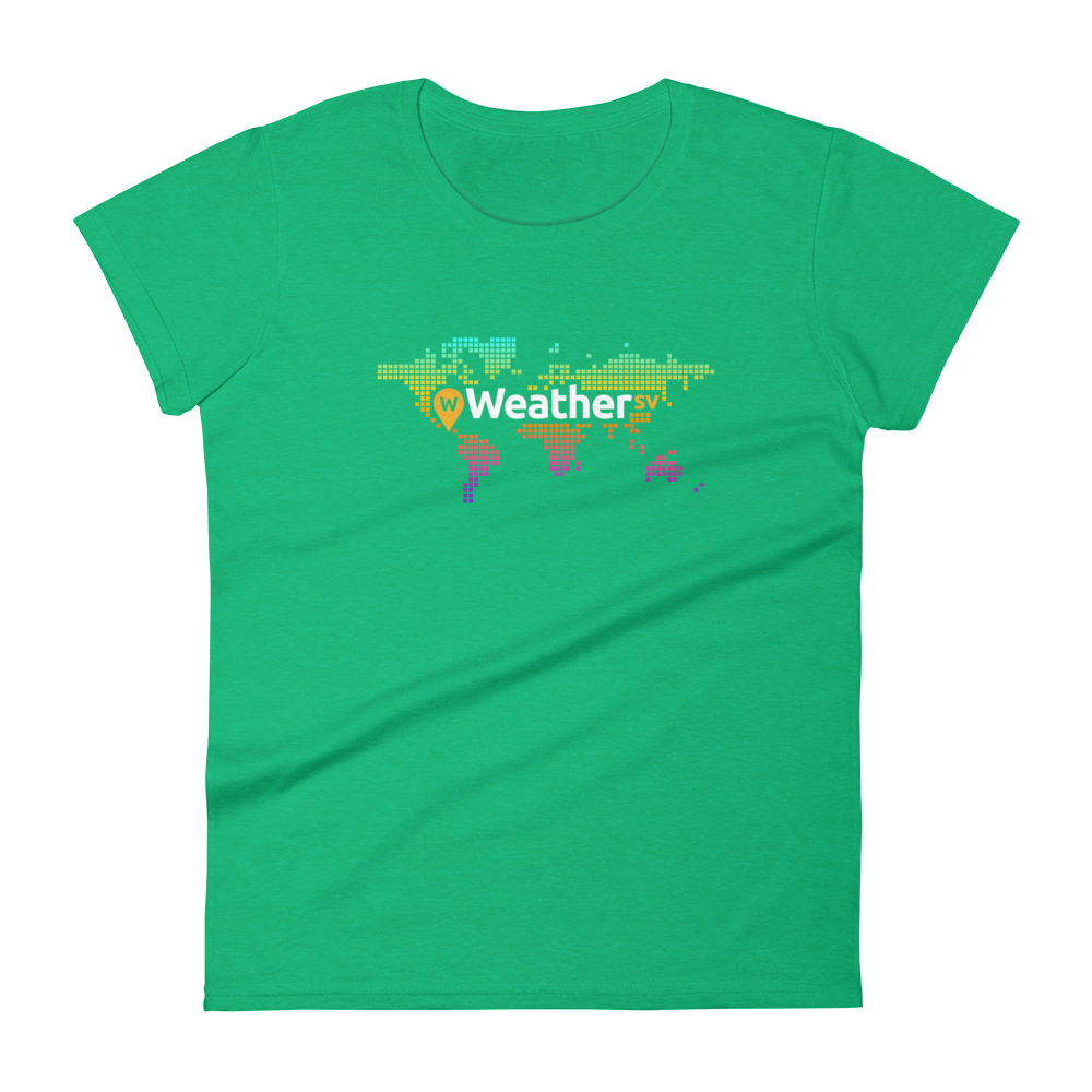 Weather SV Women's T-Shirt Heather Green S - zeroconfs