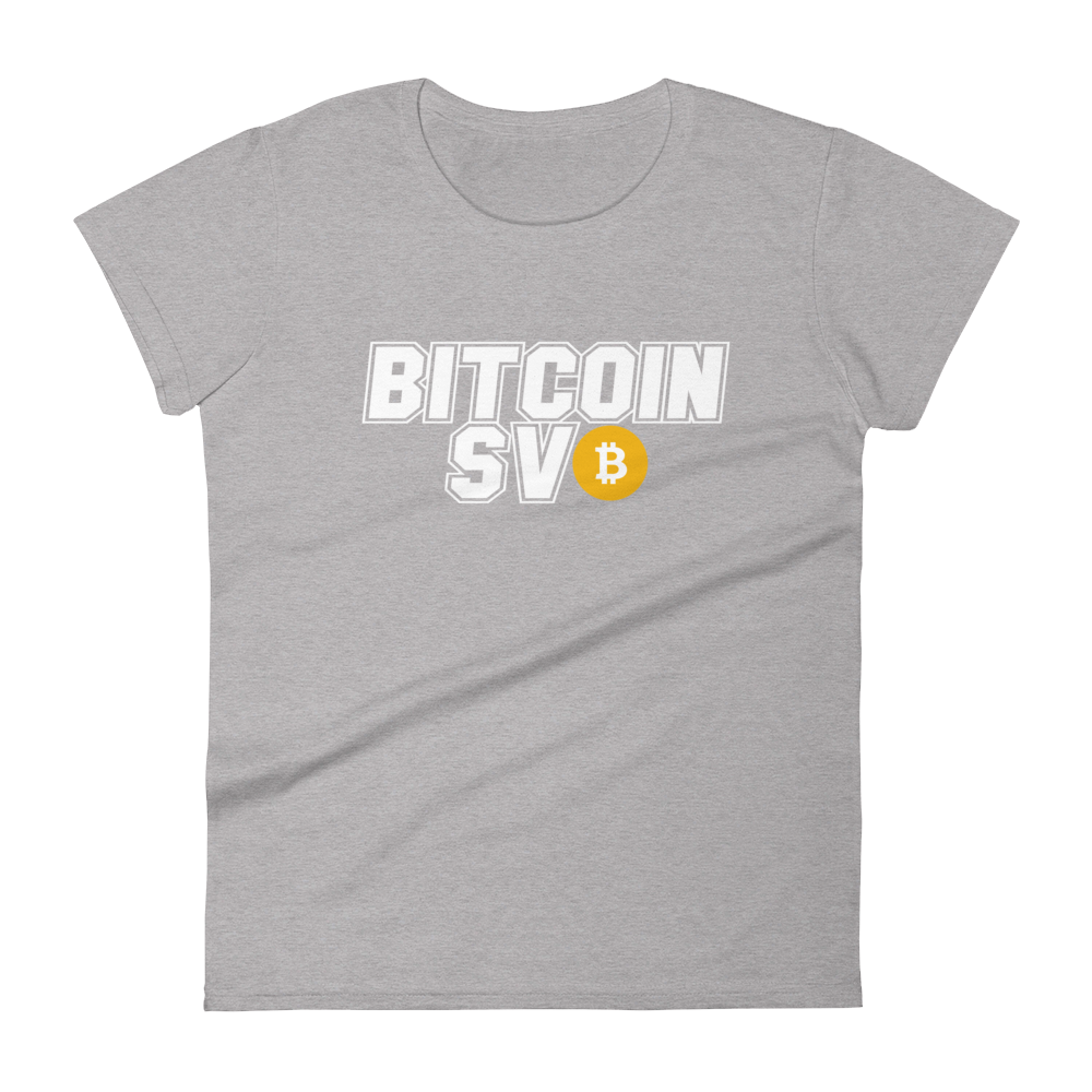 Bitcoin SV Sports Women's T-Shirt Heather Grey S - zeroconfs
