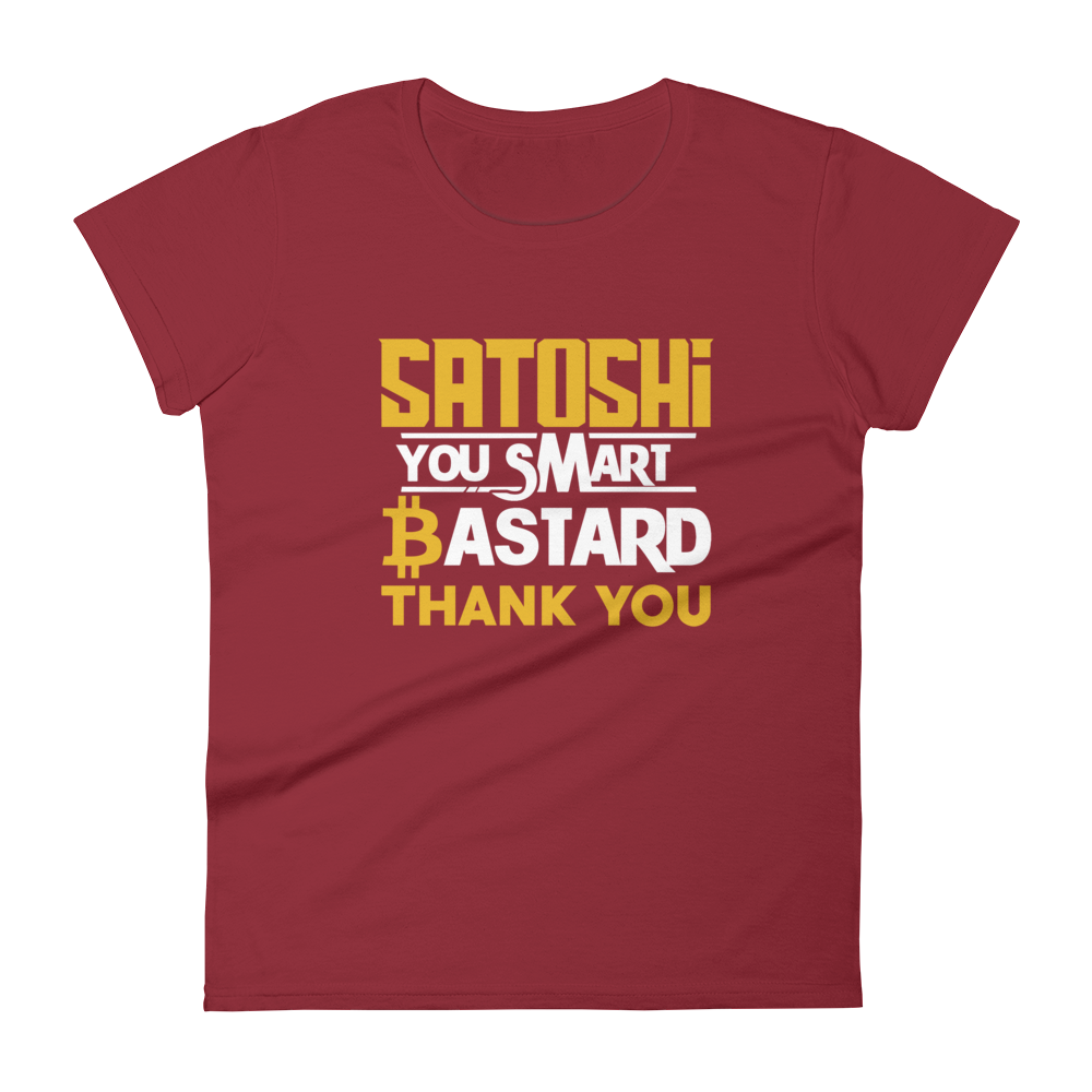 Satoshi You Smart Bastard Bitcoin Women's T-Shirt Independence Red S - zeroconfs