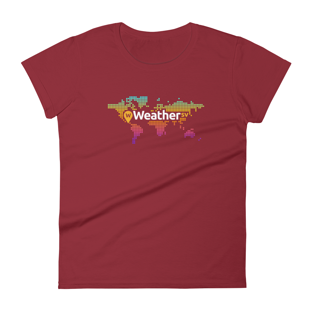 Weather SV Women's T-Shirt Independence Red S - zeroconfs
