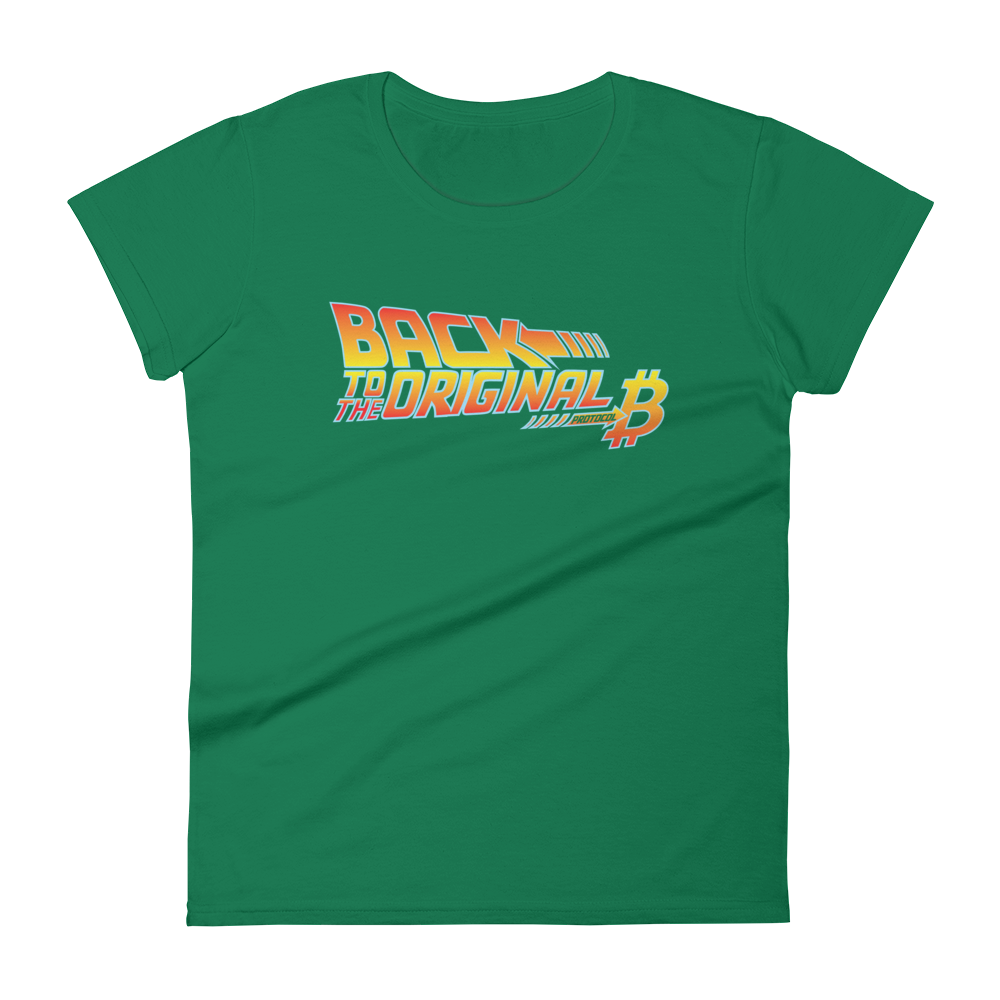 Back To The Original Bitcoin Protocol Women's T-Shirt Kelly Green S - zeroconfs