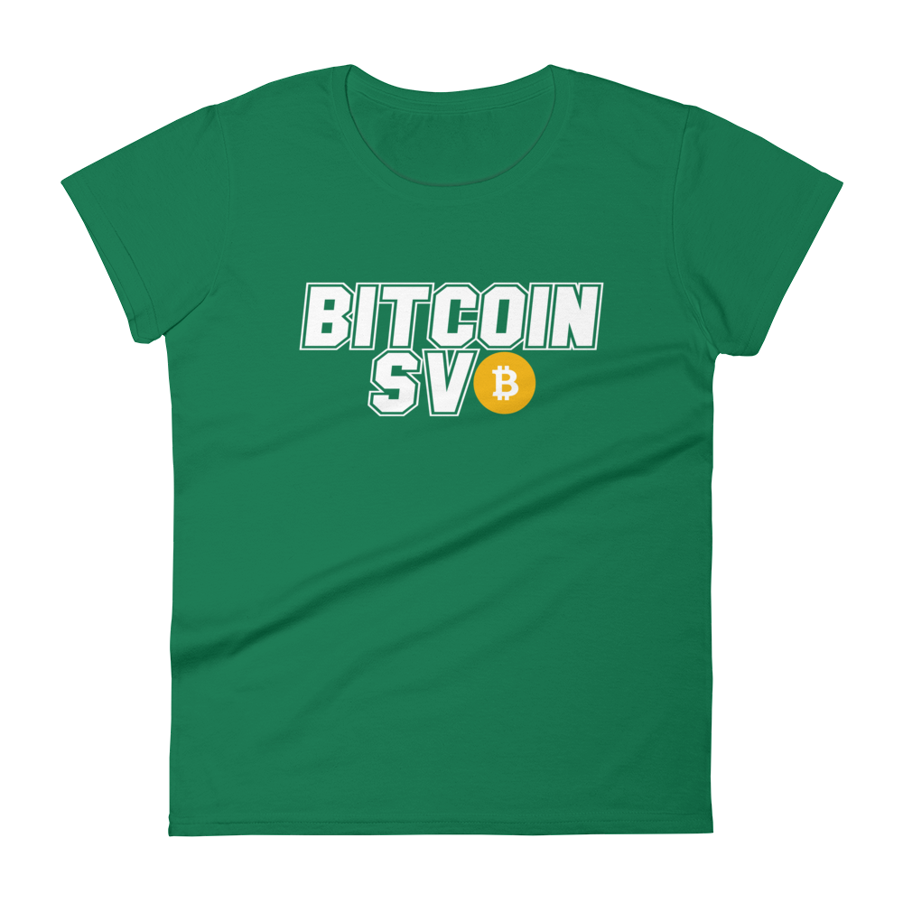 Bitcoin SV Sports Women's T-Shirt Kelly Green S - zeroconfs