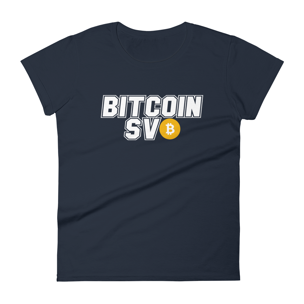 Bitcoin SV Sports Women's T-Shirt Navy S - zeroconfs
