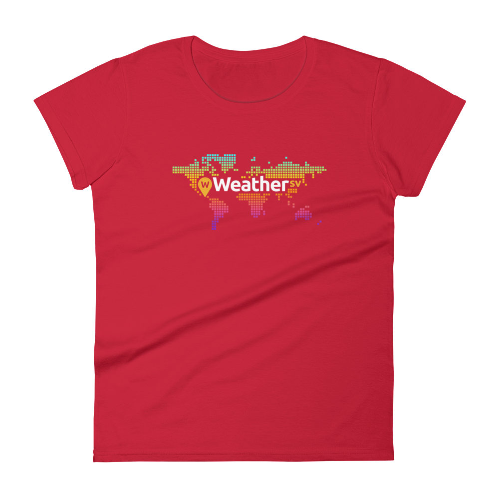 Weather SV Women's T-Shirt Red S - zeroconfs