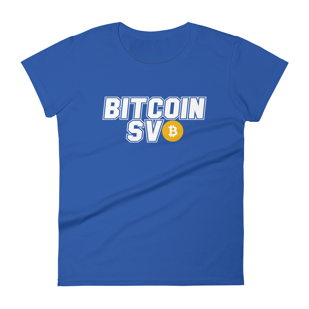 Bitcoin SV Sports Women's T-Shirt Royal Blue S - zeroconfs