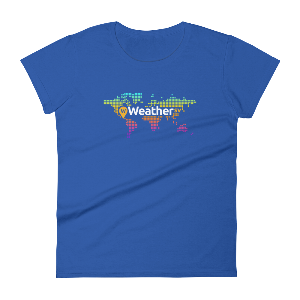 Weather SV Women's T-Shirt Royal Blue S - zeroconfs