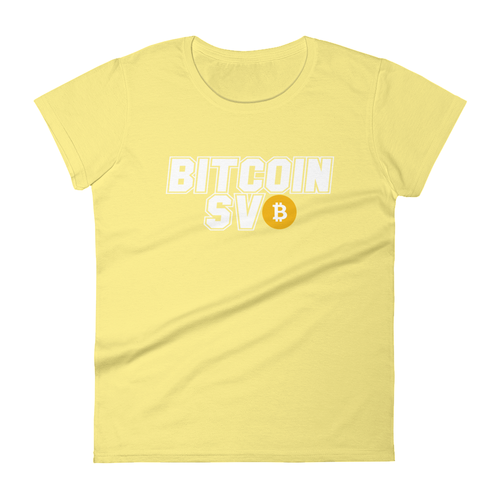 Bitcoin SV Sports Women's T-Shirt Spring Yellow S - zeroconfs