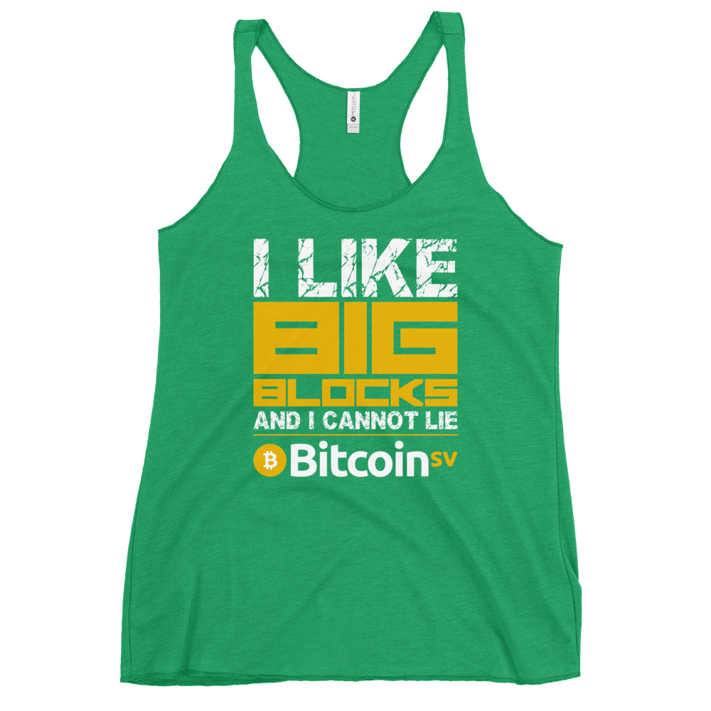 I Like Big Blocks Women's Racerback Tank Envy XS - zeroconfs