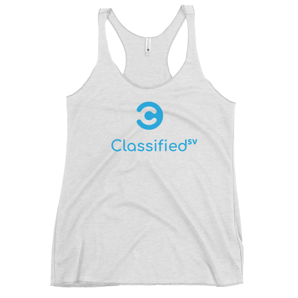 Classified SV Women's Racerback Tank Heather White XS - zeroconfs