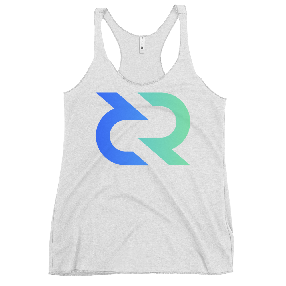 Decred Women's Racerback Tank Heather White XS - zeroconfs