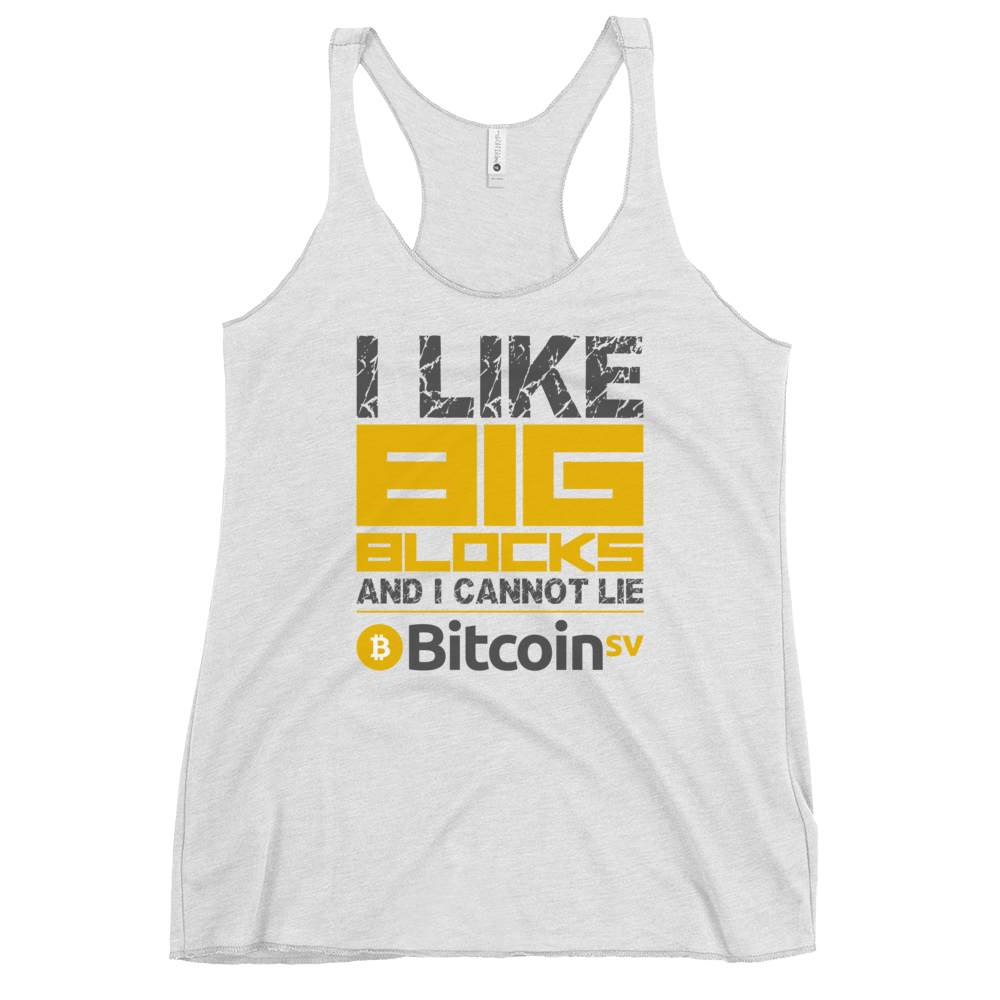 I Like Big Blocks Women's Racerback Tank Heather White XS - zeroconfs
