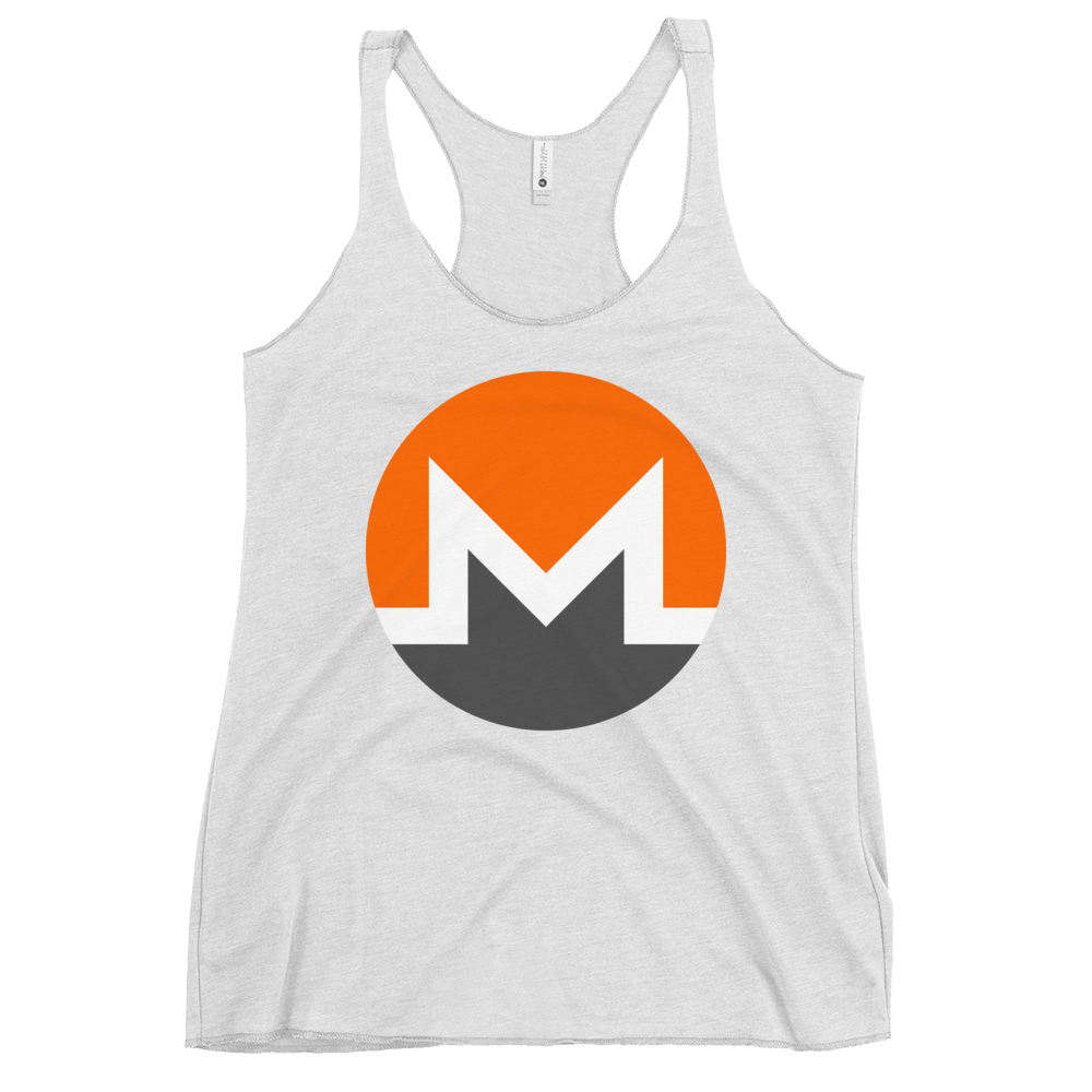 Monero Women's Racerback Tank Heather White XS - zeroconfs