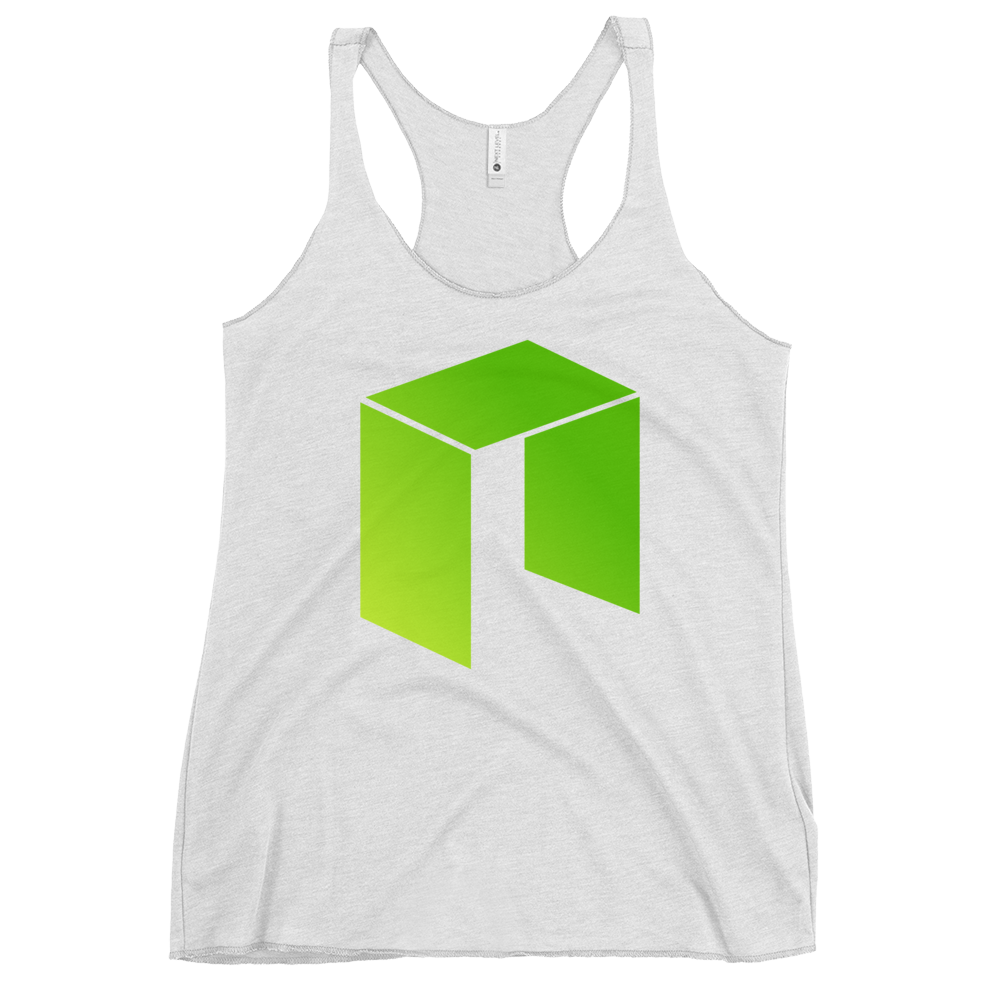 NEO Women's Racerback Tank Heather White XS - zeroconfs
