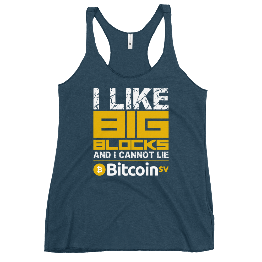 I Like Big Blocks Women's Racerback Tank Indigo XS - zeroconfs