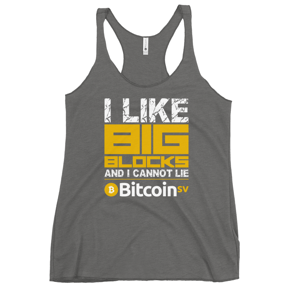 I Like Big Blocks Women's Racerback Tank Premium Heather XS - zeroconfs