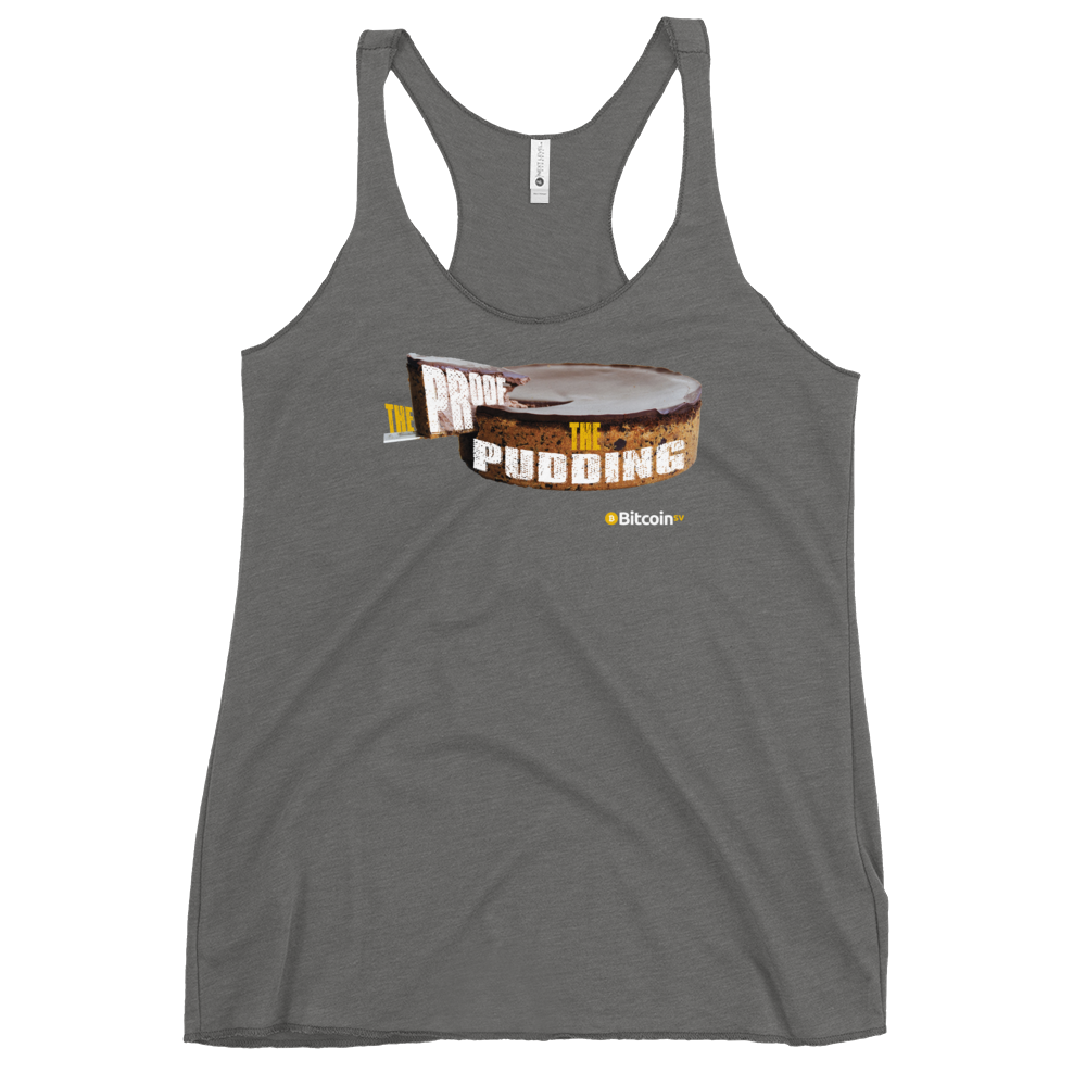 Proof Of Pudding Bitcoin SV Women's Racerback Tank Premium Heather XS - zeroconfs