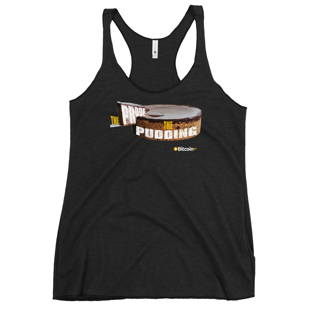 Proof Of Pudding Bitcoin SV Women's Racerback Tank Vintage Black XS - zeroconfs