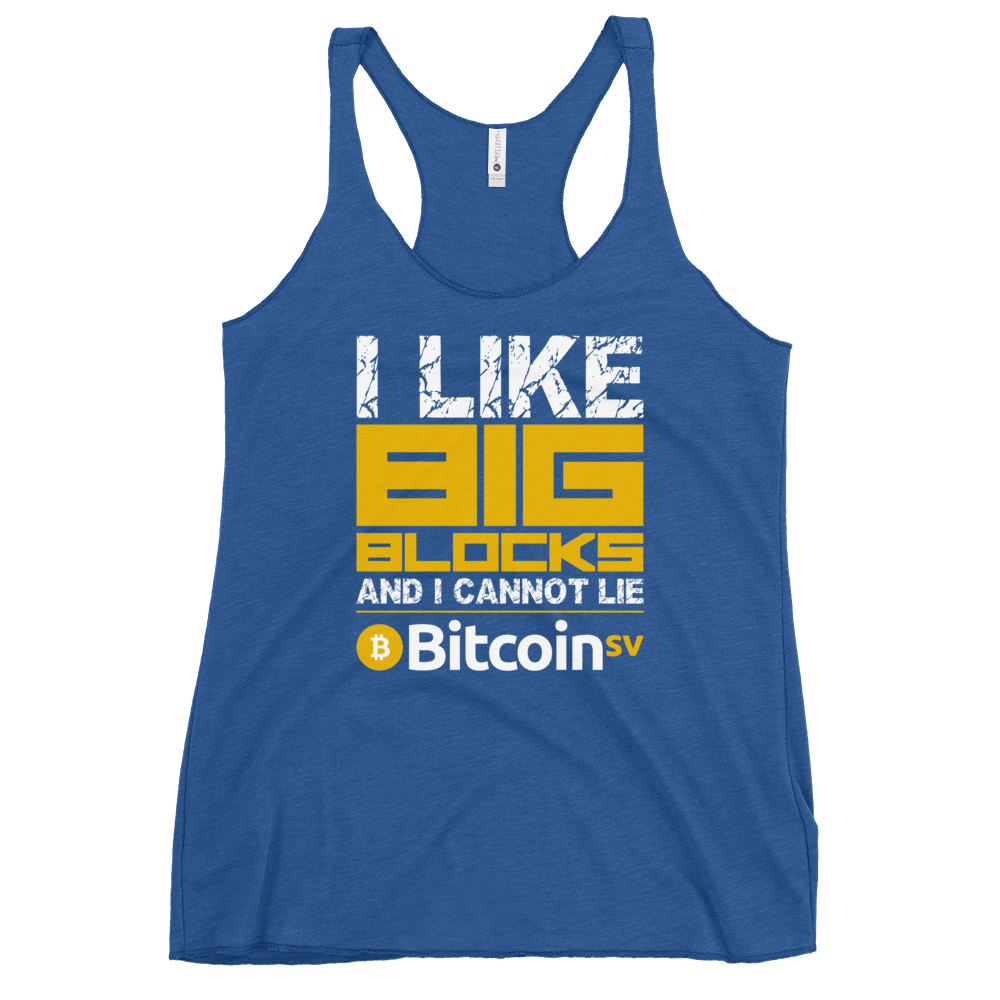 I Like Big Blocks Women's Racerback Tank Vintage Royal XS - zeroconfs