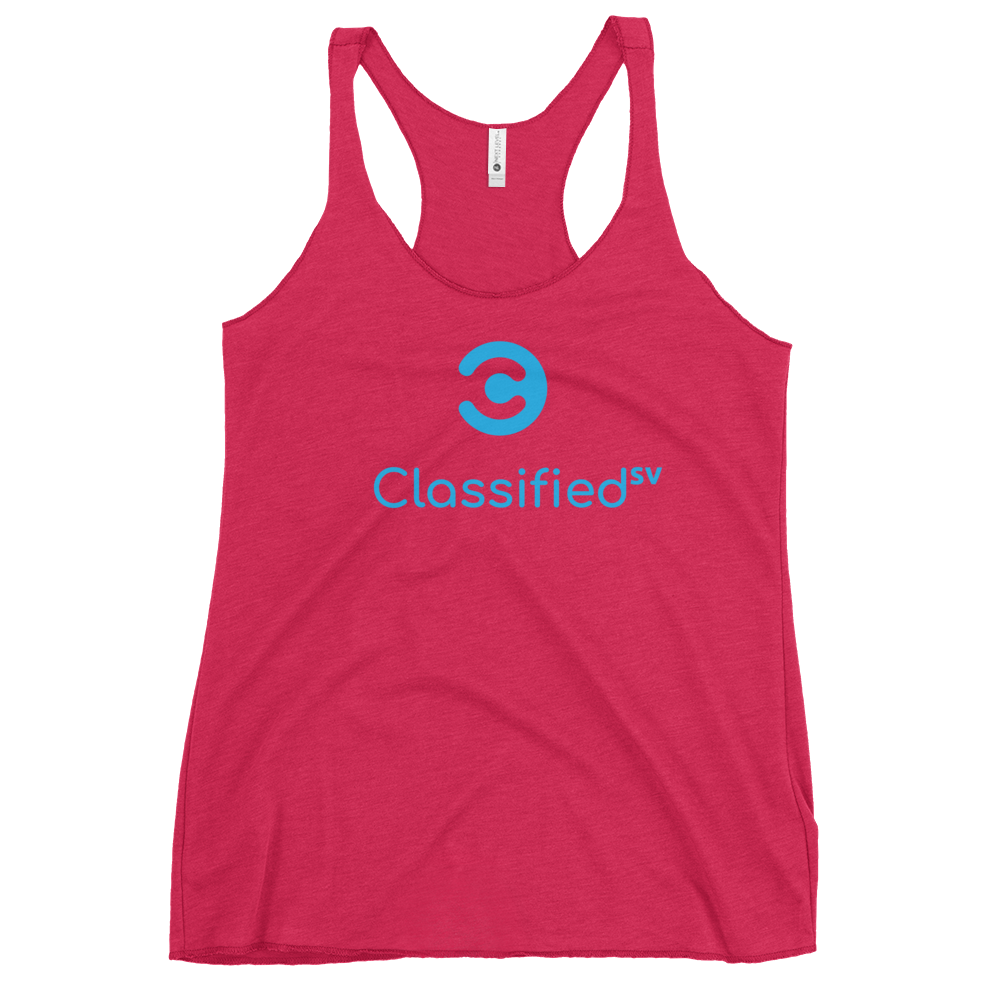 Classified SV Women's Racerback Tank Vintage Shocking Pink XS - zeroconfs