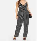 Striped Down Jumpsuit