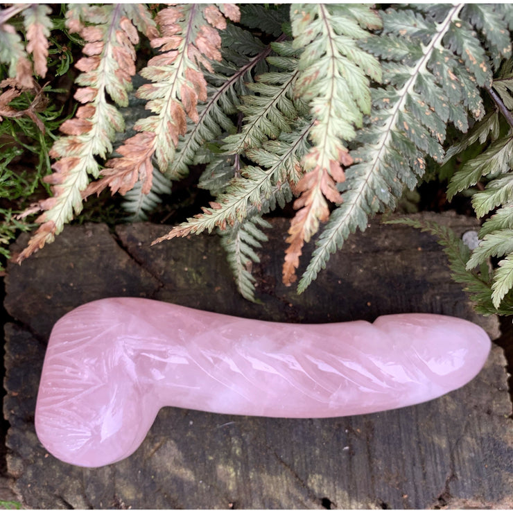 Xtra Large Rose Quartz Dildo