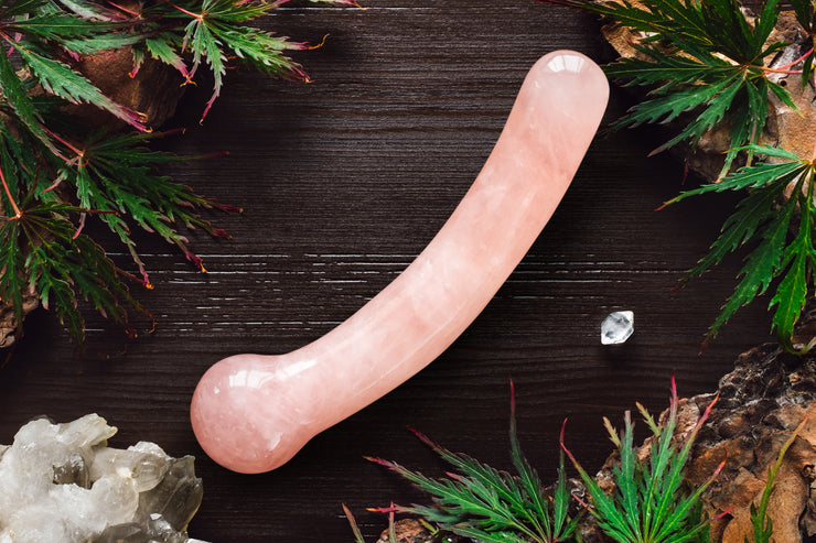 Regular G-Spot Curved Rose Quartz Yoni Wand