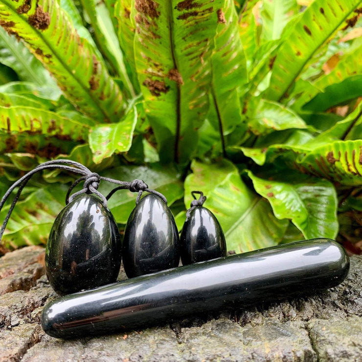 Black Obsidian Yoni eggs and Massage Point