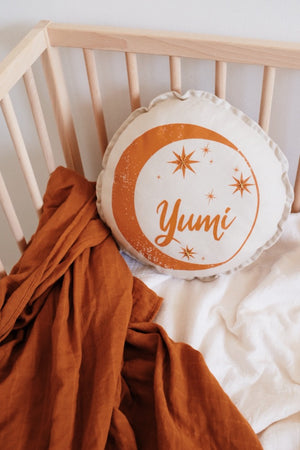 Stargazer Linen Cushion  **Personalised Name**