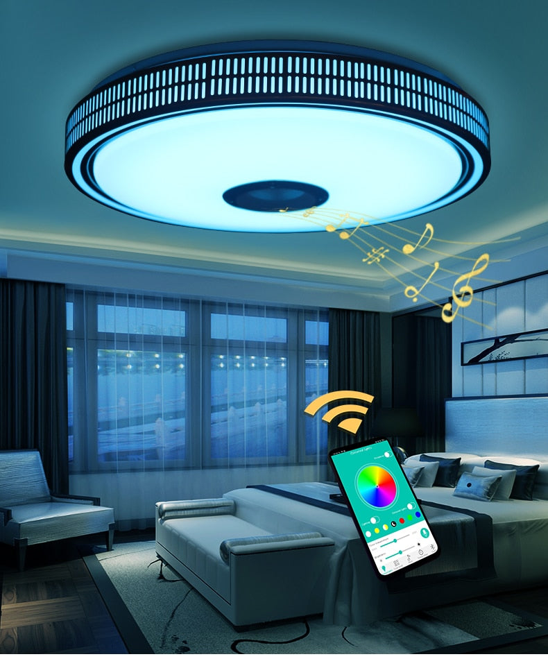Modern LED Chandelier With Bluetooth Control