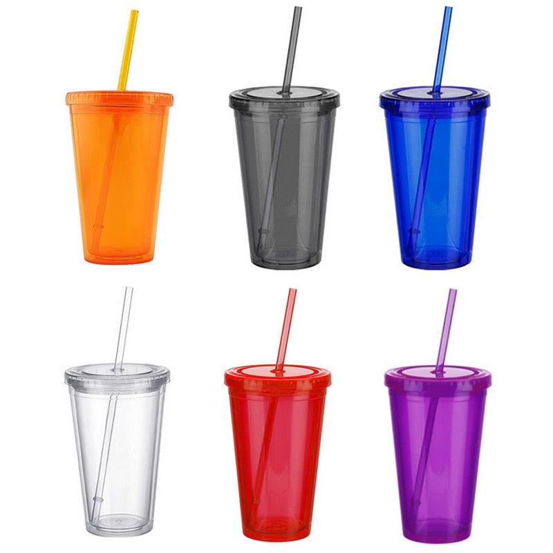 500ml Travel Mug With Straw