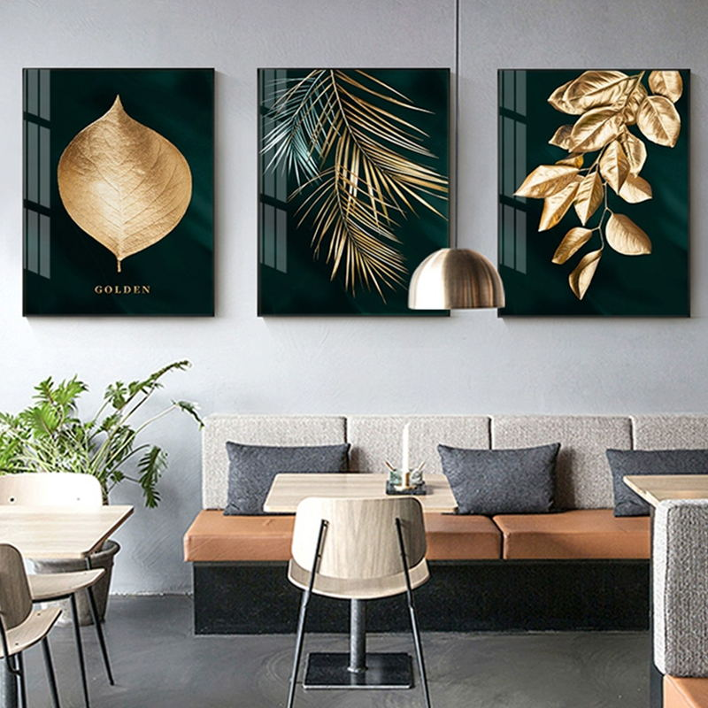 Abstract Golden Plant Wall Decoration