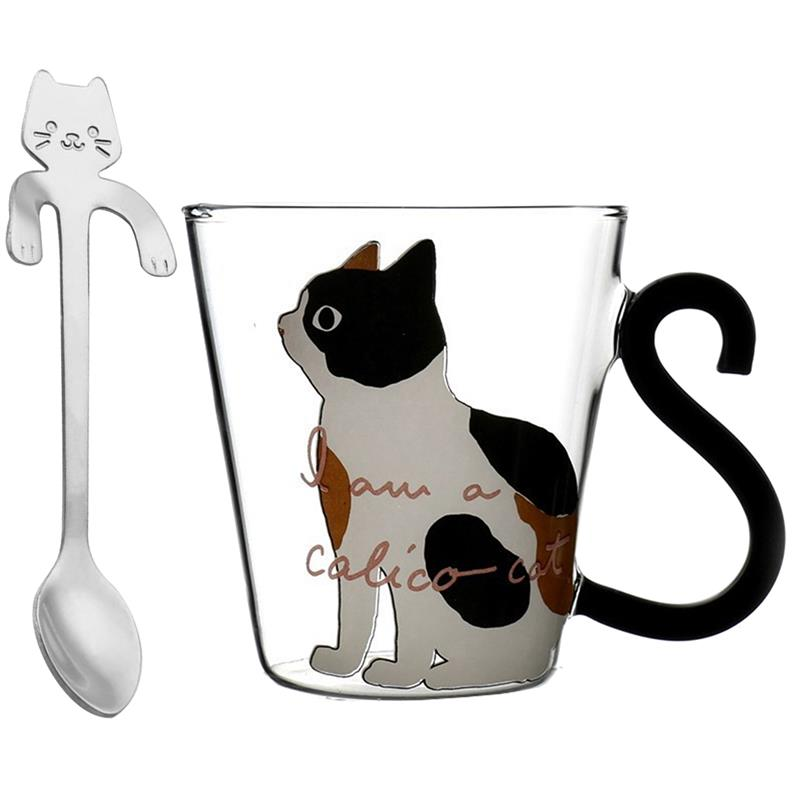 Cute Cats Heat Resistant Drinking Glass