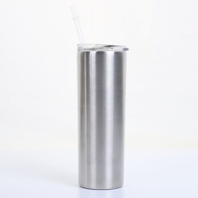 20oz Slim Tumblers With Lids And Straw
