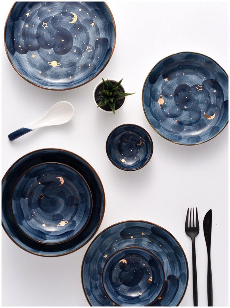 Star Night Design Dinner Plate Set