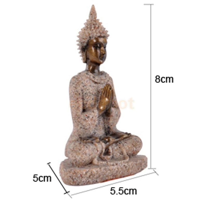 The Hue Sandstone Meditation Buddha Statue