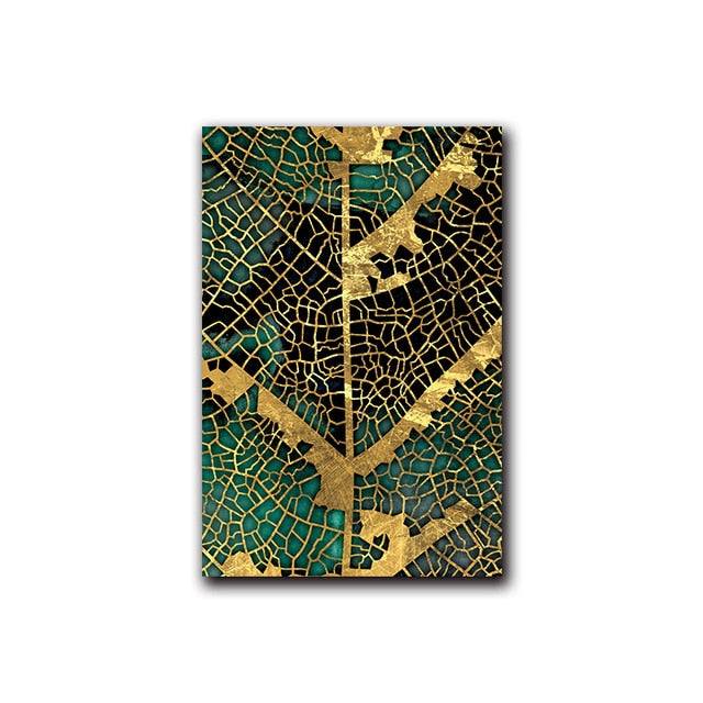 Leaf and Trunk Texture Abstract Wall Art