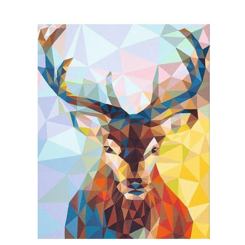 Frameless Deer Animals DIY Painting