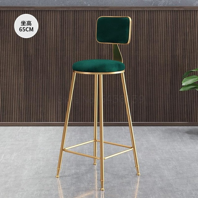 Nordic Light Luxury Bar Stool