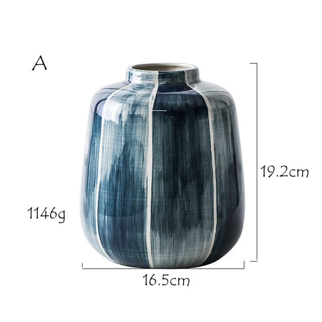 Blue Highlight Flower Vase