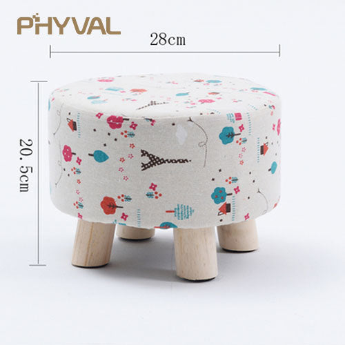 Modern Luxury Upholstered Footstool