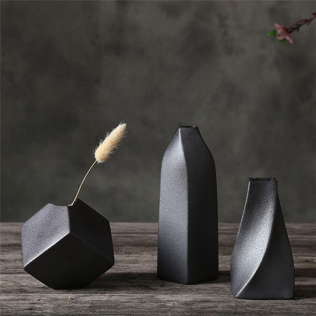 Small Black Modern Ceramics Vase