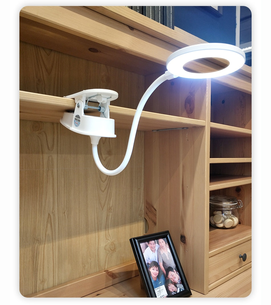 LED 3 Modes Clip Desk Lamp