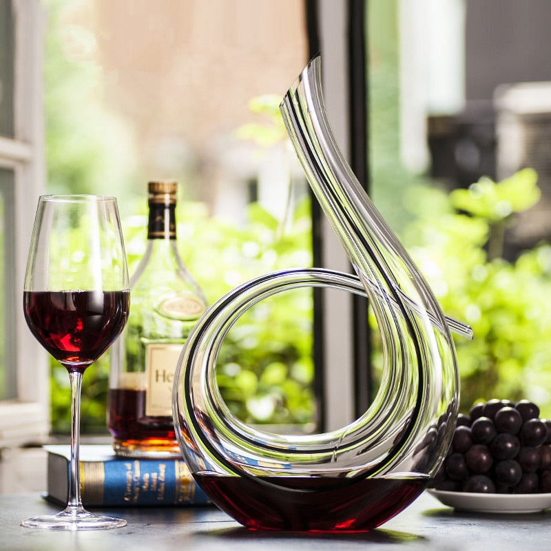 Handmade Crystal Wine Pourer Glass Decanter