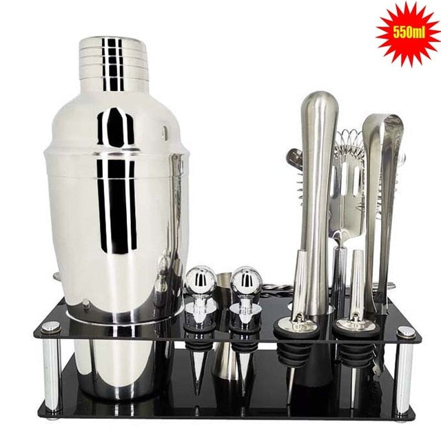 13 Pcs Stainless Steel Bartender Kit