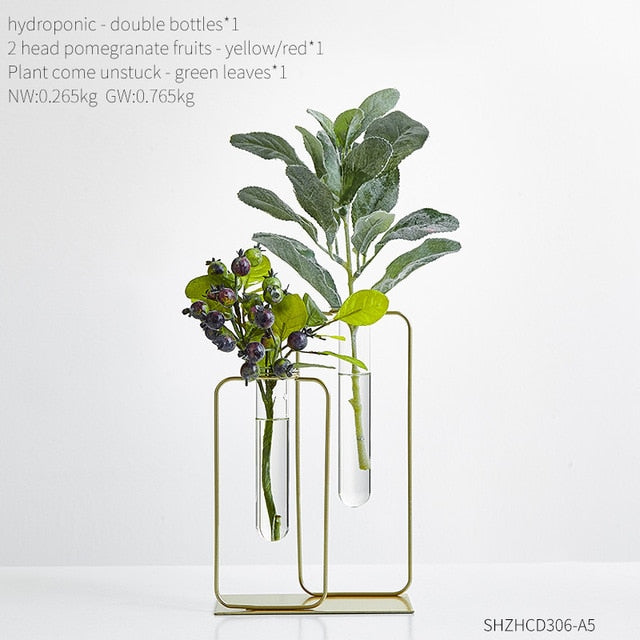 Double Tube Glass Vase Terrarium