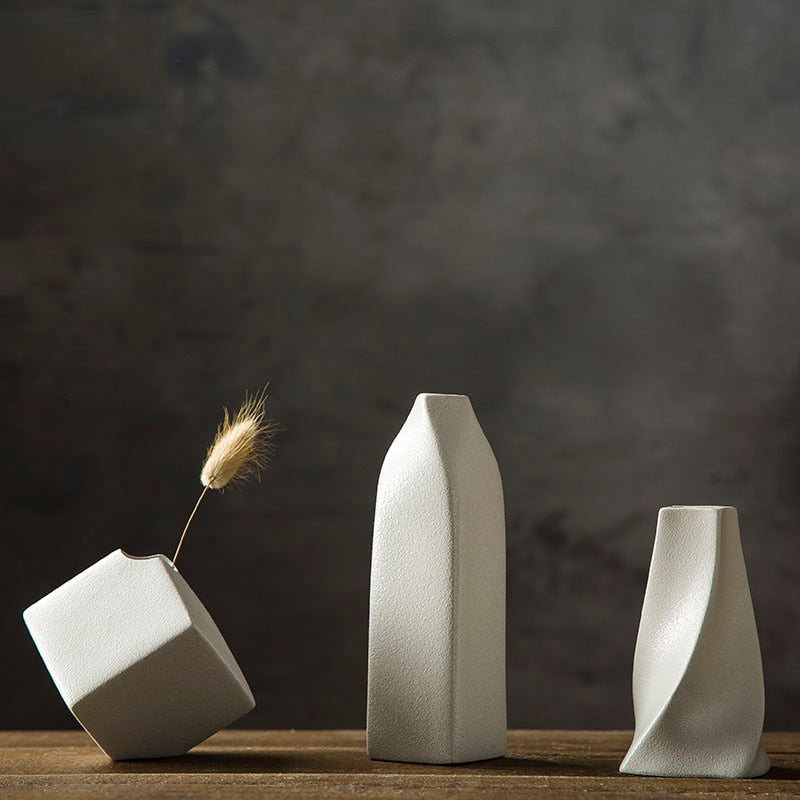Small White Modern Ceramics Vase