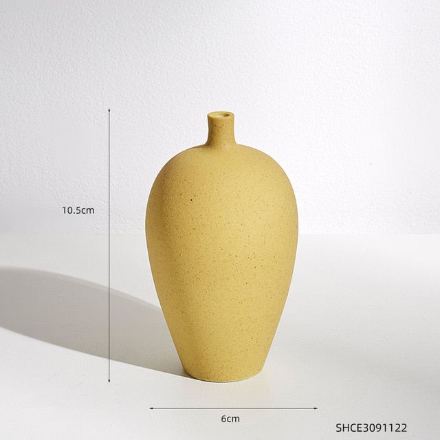Vase Decoration Home Nordic Morandi Color Ceramic Solid Color Vase Living Room Bedroom Countertop Vases for Decoration Gifts