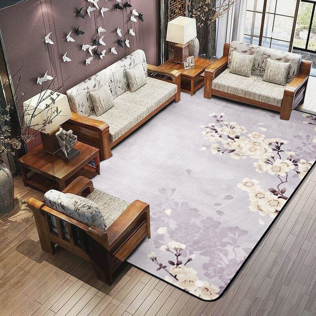 3D Plum Flower Carpet