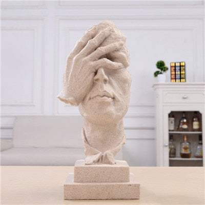 Vintage Thinker Sculpture