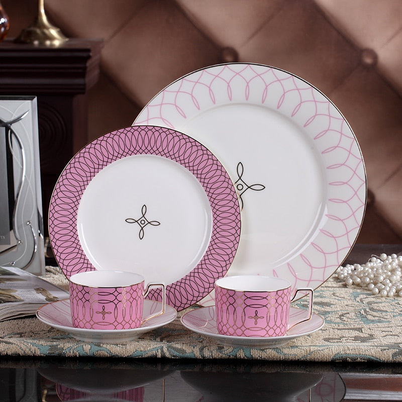 4 pcs Luxury Ceramic Dinner Set